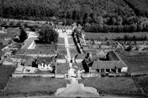La Chartreuse du Liget, vue aérienne